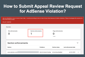 How to Submit Appeal Review Request for AdSense Violation?