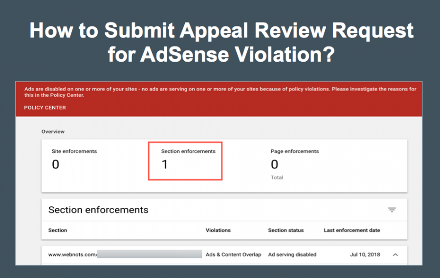 How to Submit AdSense Policy Violation Appeal Request Review?