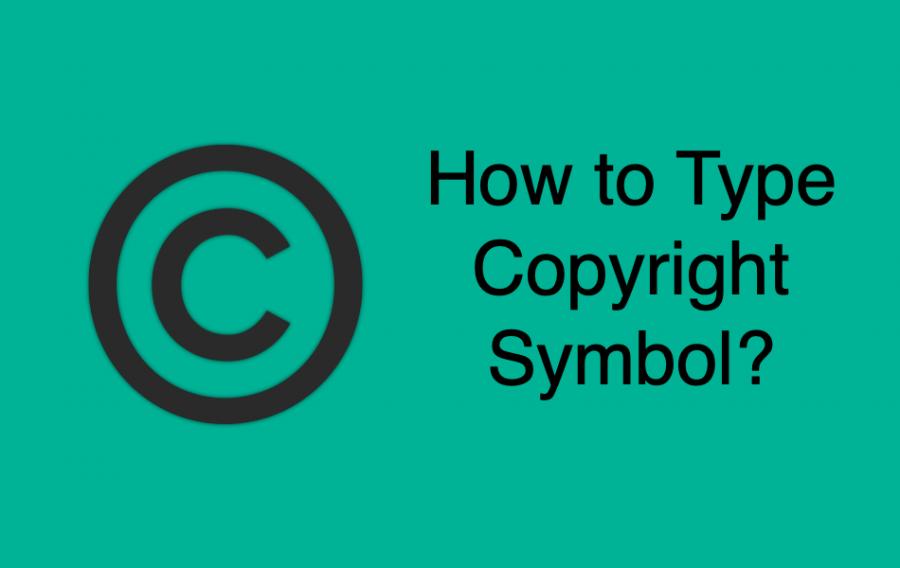 How to Type Copyright Symbol