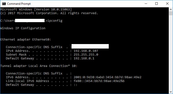IP Address Of PC B