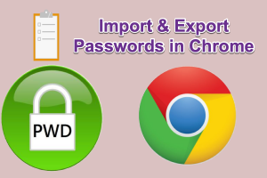Import and Export Passwords in Chrome