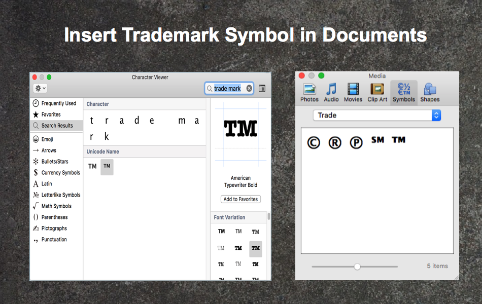 5 Ways To Insert Trademark Symbol In Documents Webnots