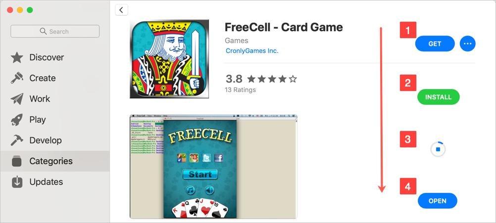 Install App from Mac App Store