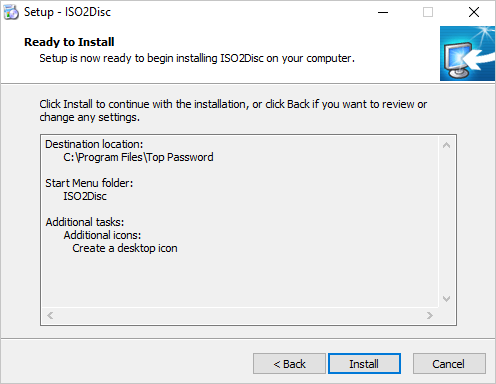 Install ISO2Disc