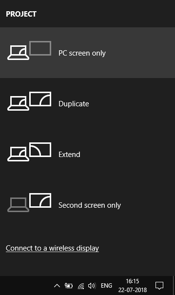Projector Option to Select PC Screen Only