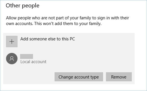 Removing Local User Account