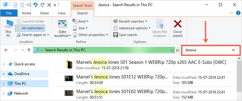 Search In File Explorer
