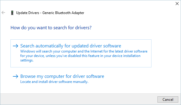 Searching Drivers Automatically