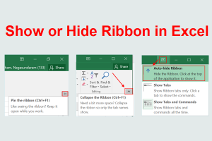 Show or Hide Ribbon in Excel
