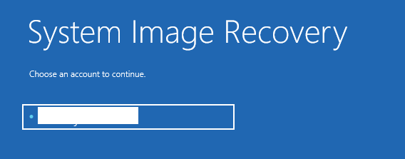 System Image Recovery Account