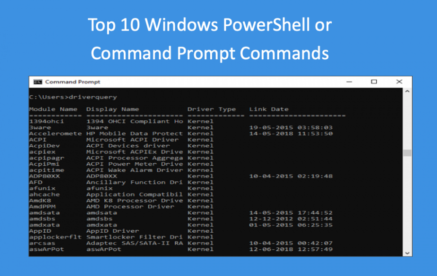 Top 10 Windows PowerShell or Command Prompt Commands