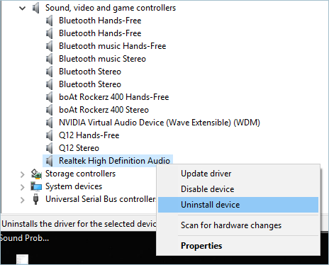 Uninstalling a Device