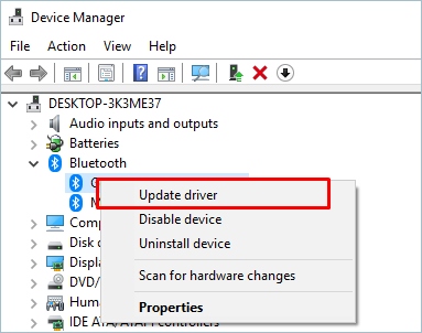 Updating Driver
