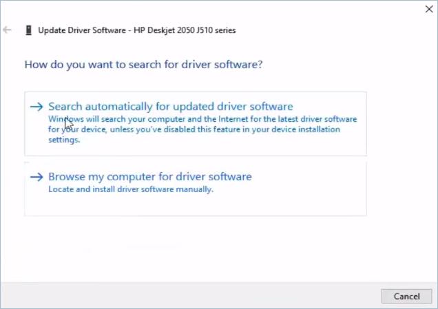 Updating Printer Drivers Options
