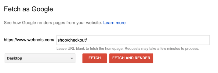 Using Fetch as Google