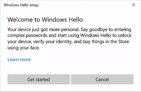 Welcome To Windows Hello