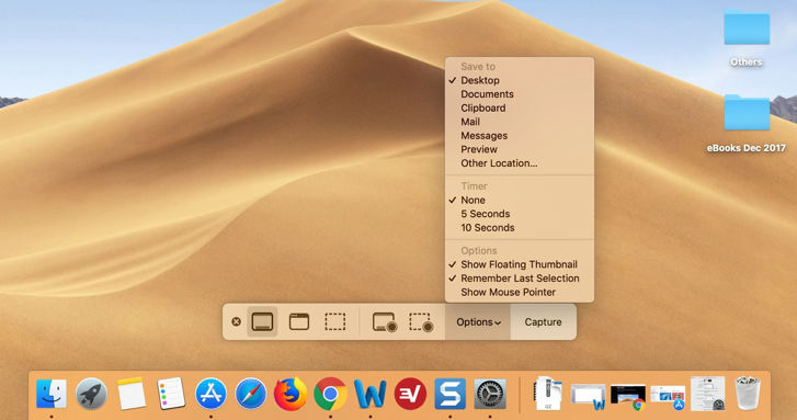 macOS Mojave Screenshot App