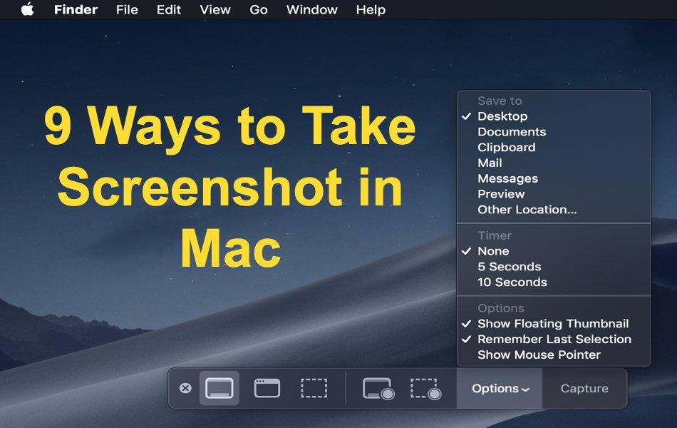 9 Ways to Take Screenshot in Mac