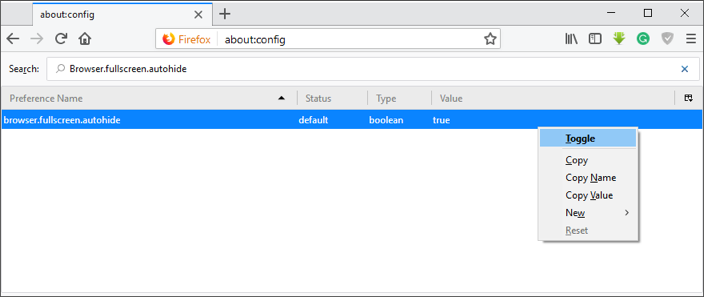 Autohiding Fullscreen Toolbar
