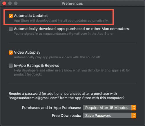 Automatic App Updates from App Store