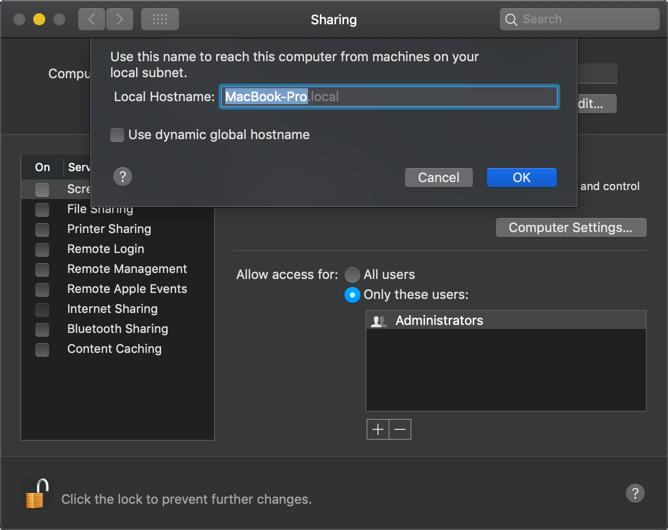 Change Computer Name of Mac