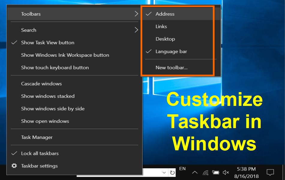 15 Tips to Customize Windows 10 Taskbar