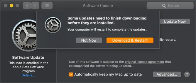 Download and Restart
