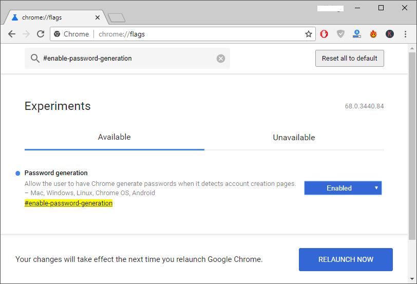 Enabling Automatic Passwords Generation