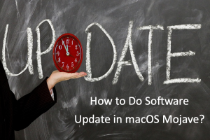 How to Do Software Update in macOS Mojave?