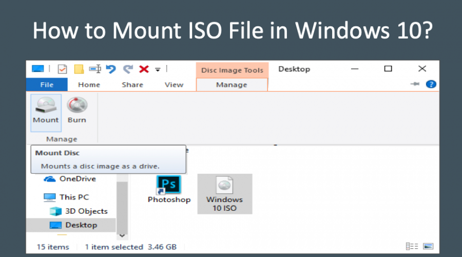 4 Ways to Mount ISO Image File in Windows 10