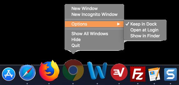 Individual App Options in Dock