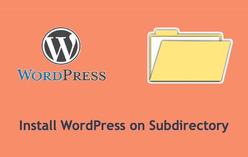 Install WordPress on Subdirectory