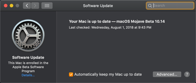 Mac is Up to Date
