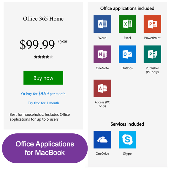 Office Applications for Mac