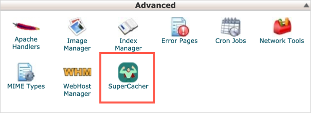 Open Supercacher in cPanel