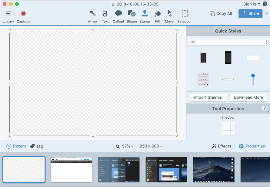 Snagit 2018 Screenshot Editor