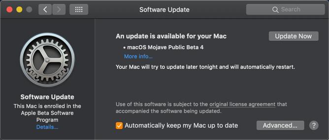 Software Update in macOS