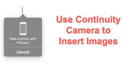Use Continuity Camera Feature