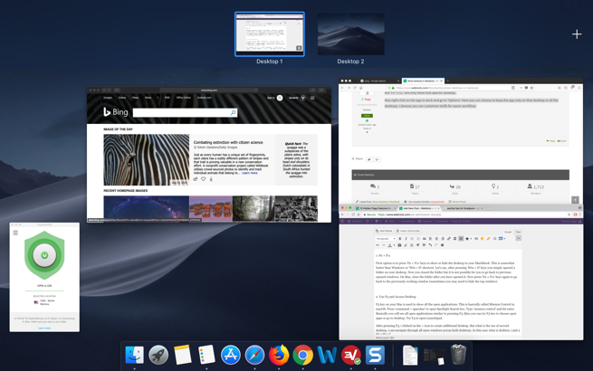 View All Desktops in Mac Using F3