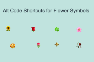 Alt Code Shortcuts for Flower Symbols