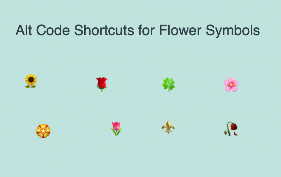 Alt Code Keyboard Shortcuts for Flower Symbols