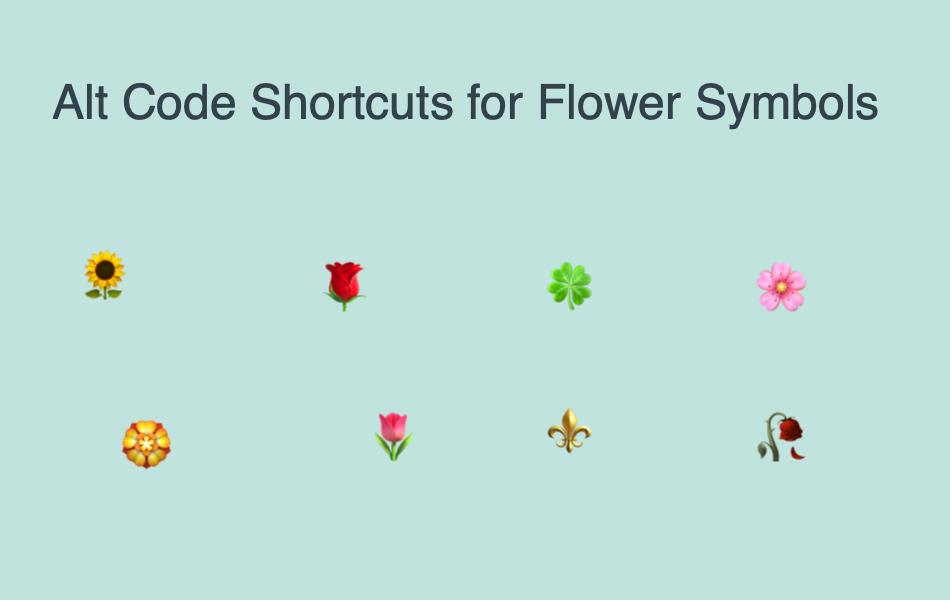 Alt Code Shortcuts For Flower Symbols Webnots