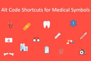 Alt Code Shortcuts for Medical Symbols
