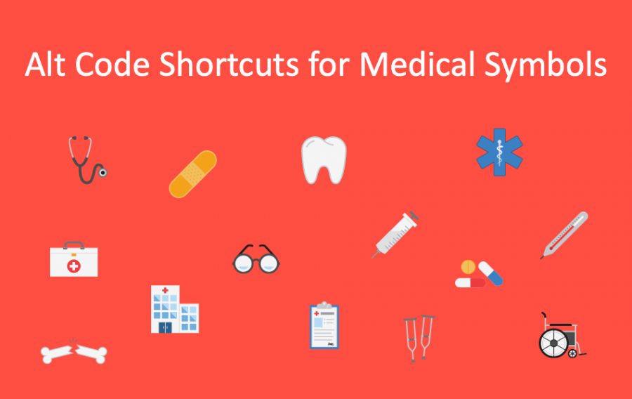Alt Code Shortcuts for Medical Symbols