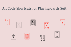 Alt Code Shortcuts for Playing Cards Suit