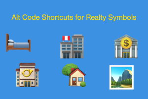 Alt Code Shortcuts for Realty Symbols