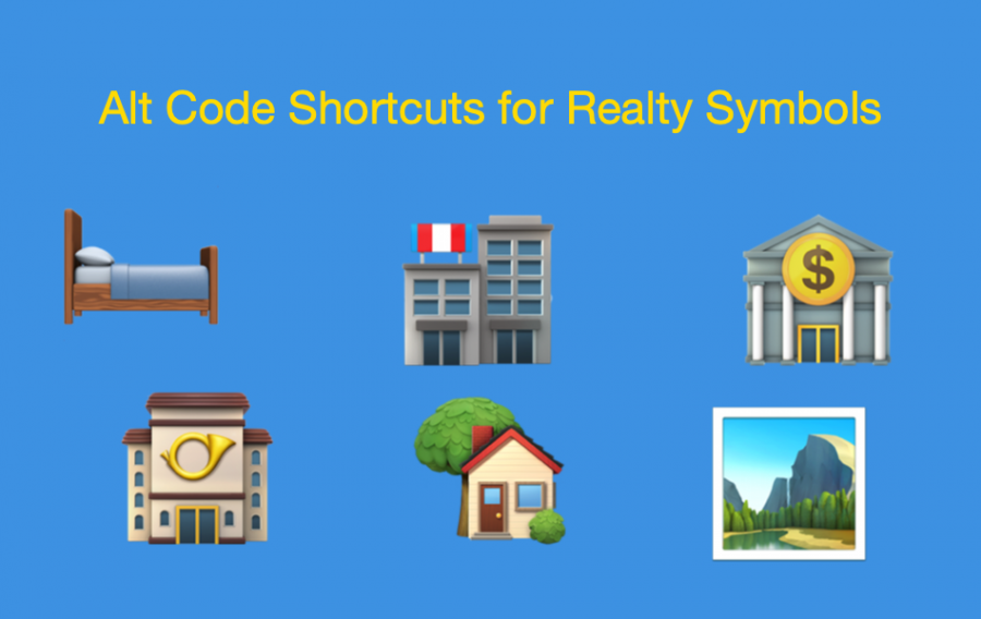 Alt Code Shortcuts for Realty Symbols