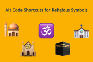 Alt Code Shortcuts for Religious Symbols