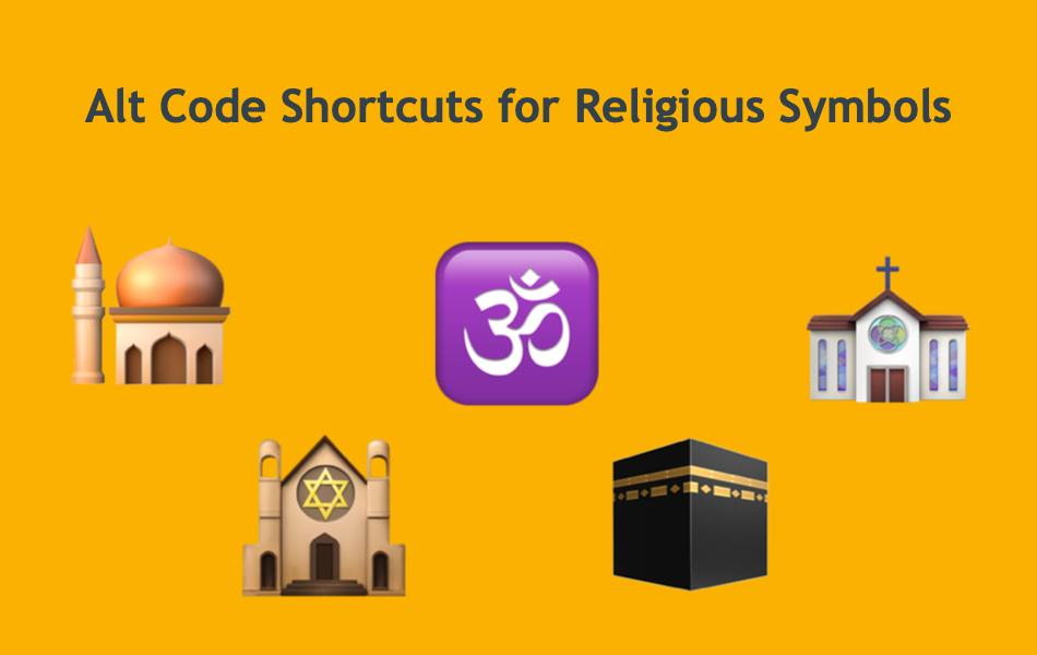 Alt Code Shortcuts for Religious Symbols