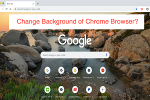Change Background of Chrome Browser?